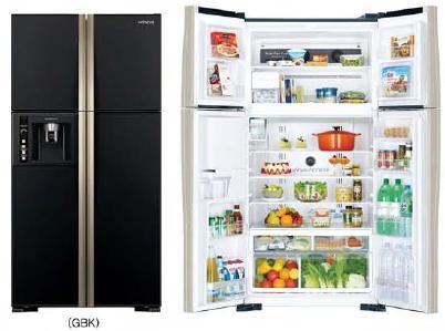 HITACHI ตู้เย็น 4 ประตู INVERTER รุ่น R-W600PWX-GBK