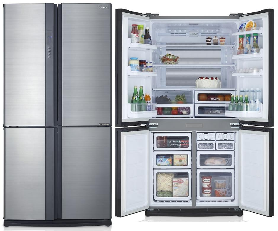 ตู้เย็น4ประตู SHARP  SJ-FX74T-SL